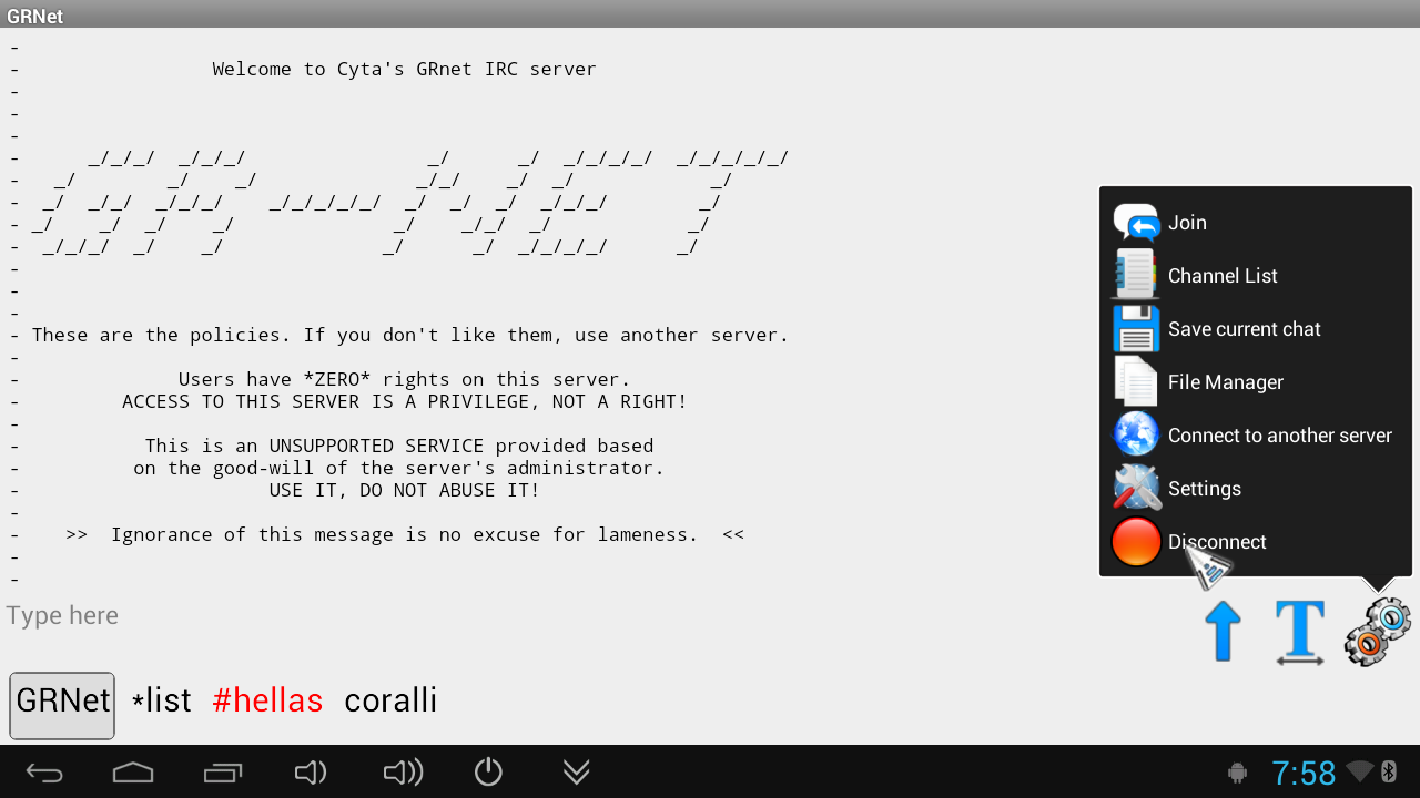 TurboIRC - screenshot