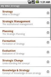 MBA Strategy & Strategic Mgmt.
