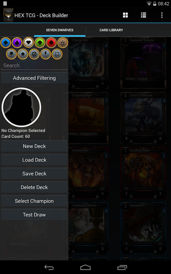 Hex TCG - Deck Builder- screenshot