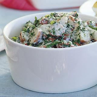 Creamy Potato Salad with Lemon and Fresh Herbs
