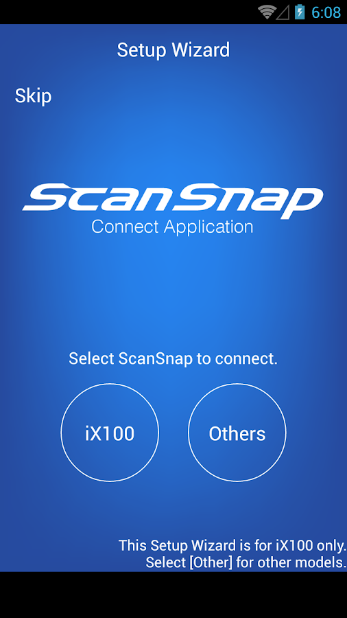ScanSnap Connect Application. - screenshot