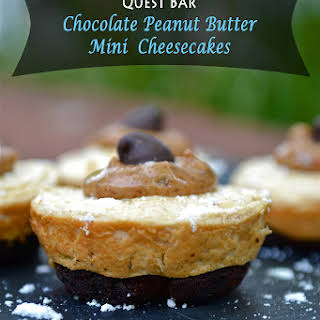 {QuestBar} Mini Chocolate Peanut Butter Cheesecakes.