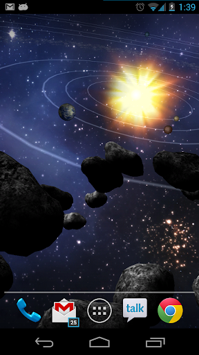 玩個人化App|Asteroid Belt Live Wallpaper免費|APP試玩
