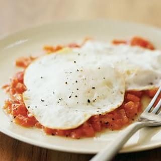 Eggs Over Easy with Peperonata