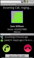 Screenshot of Incoming Call Control Trial