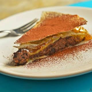Rawvegan Choco-orange Puff Pastry Cake.