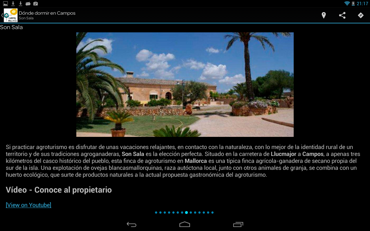 Campos. Rural tourism Majorca- screenshot