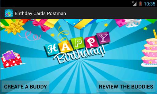 Birthday Cards Postman