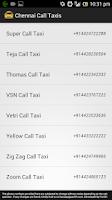Screenshot of Chennai Call Taxis