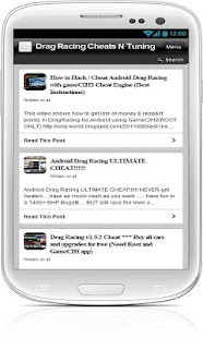 Drag Racing Cheats N Tuning - скачать читы и секреты Drag Racing android