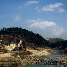 Shilong by Debraj Gupta - Landscapes Mountains & Hills ( mountain, nature, tree, landscapes, river )