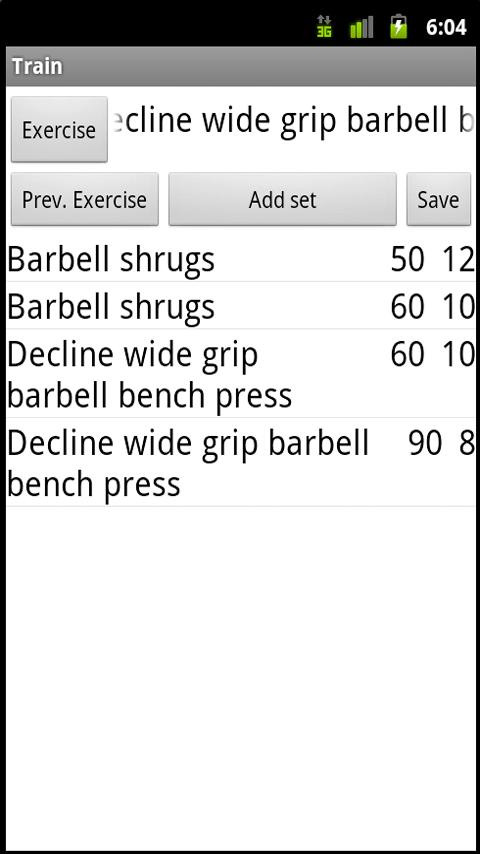 Bodybuilding & Fitness Diary - screenshot