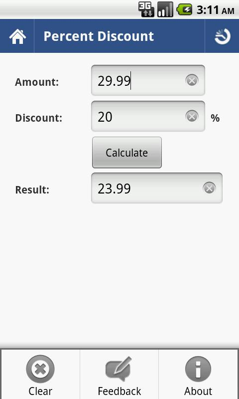 Percent Calculator - Full - screenshot
