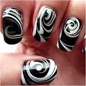 Nail Art Designs black white icon