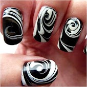 Nail Art Designs black white