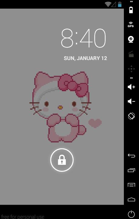 Hello Kitty Live Wallpaper - screenshot