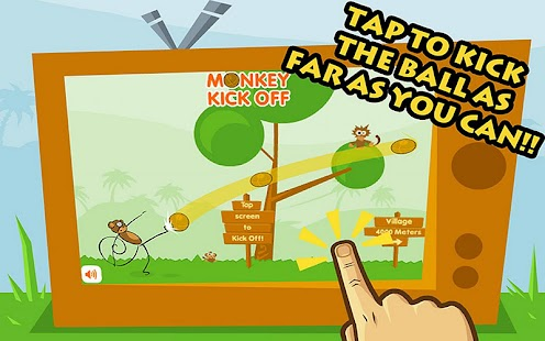 Monkey Kick Off -FREE fun game - screenshot thumbnail