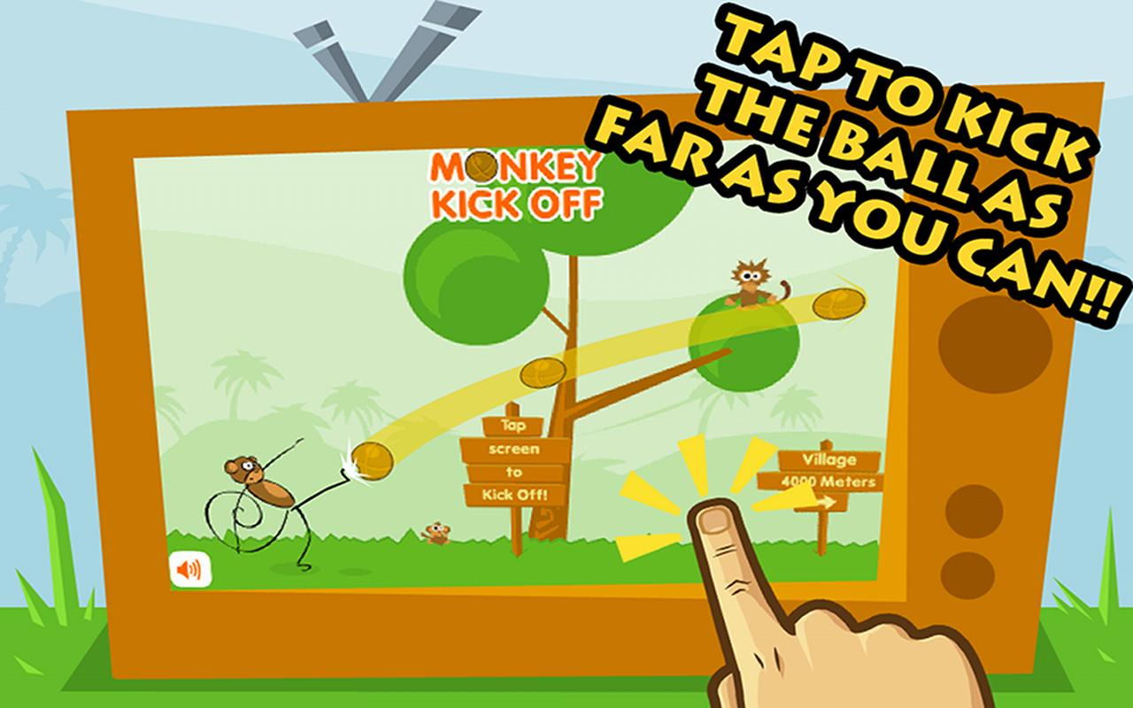 Monkey Kick Off -FREE fun game - screenshot