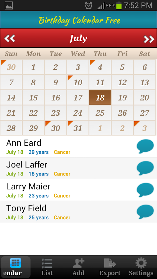 Family Calendar Android : Birthday calendar free android apps on google play