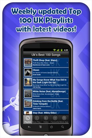 UK's Best 100 Songs - screenshot