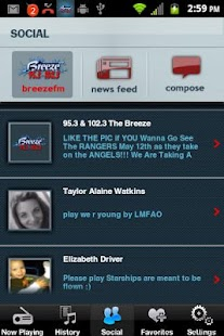 95.3 & 102.3 The Breeze - screenshot thumbnail