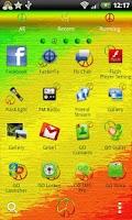 Screenshot of GO Launcher EX symbols peace