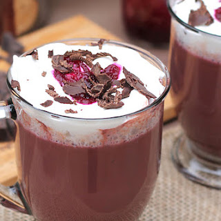Vibrant Hot Chocolate with Beet Puree
