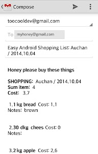 Easy Android Shopping List Pro screenshot 4