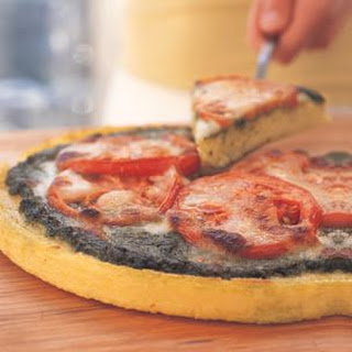 Polenta Pizza with Tomato and Pesto