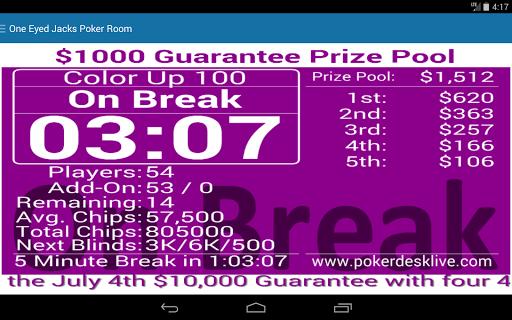 Poker desk live