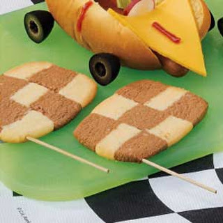 Checkered Flag Cookies.