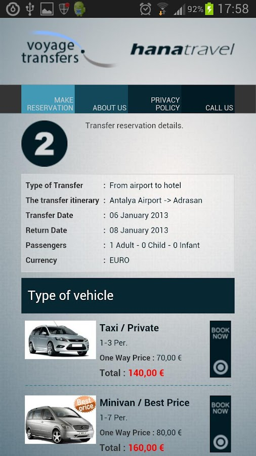 Antalya Airport VIP Transfer- screenshot