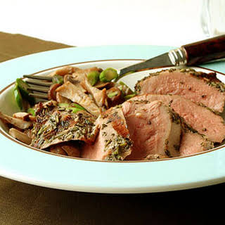 Grilled Duck with Warm Mushroom Salad and Truffle Vinaigrette.