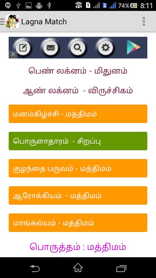 Horoscope matchmaking en Tamil des années 50 datant étiquette