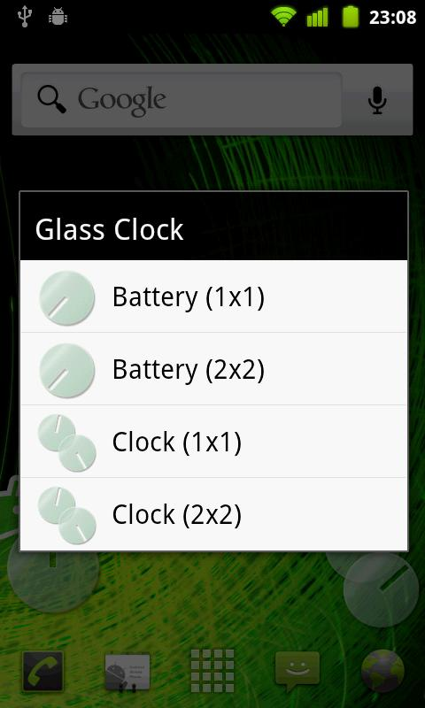 Glass Clock- screenshot