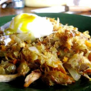 Sweet Potato Hash With Poached Egg.