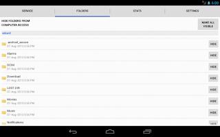 Screenshot of WiFi File Browser