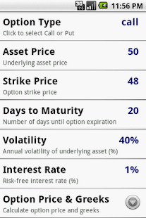 Options Calculator - screenshot thumbnail