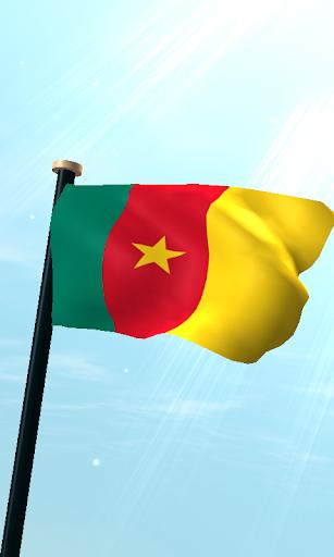 喀麥隆旗3D免費動態桌布