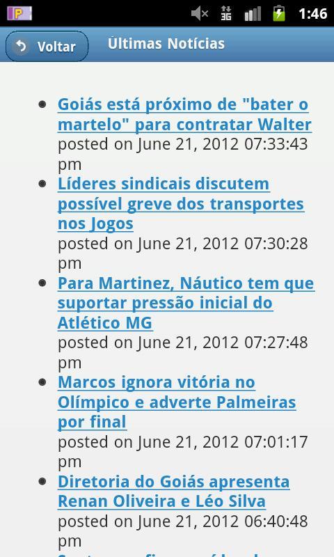 Esportes Notícias Mobile- screenshot