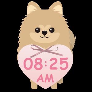 *ポメラニアン* デジタル時計ウィジェット 個人化 App LOGO-APP試玩