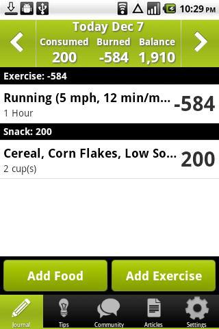 Calorie Counter PRO - screenshot