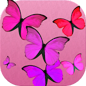 Pink butterfly battery