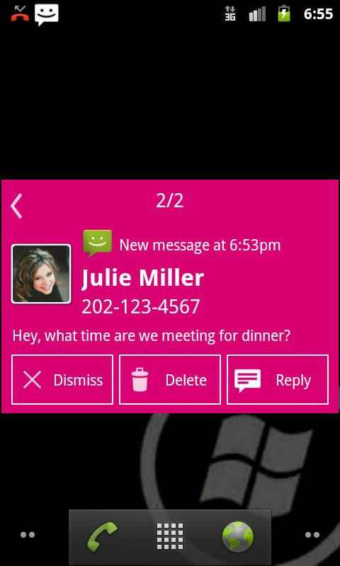 Notify - WP7 Magenta Theme- screenshot