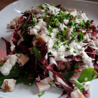 Radicchio, Turkey, and Snow Pea Salad