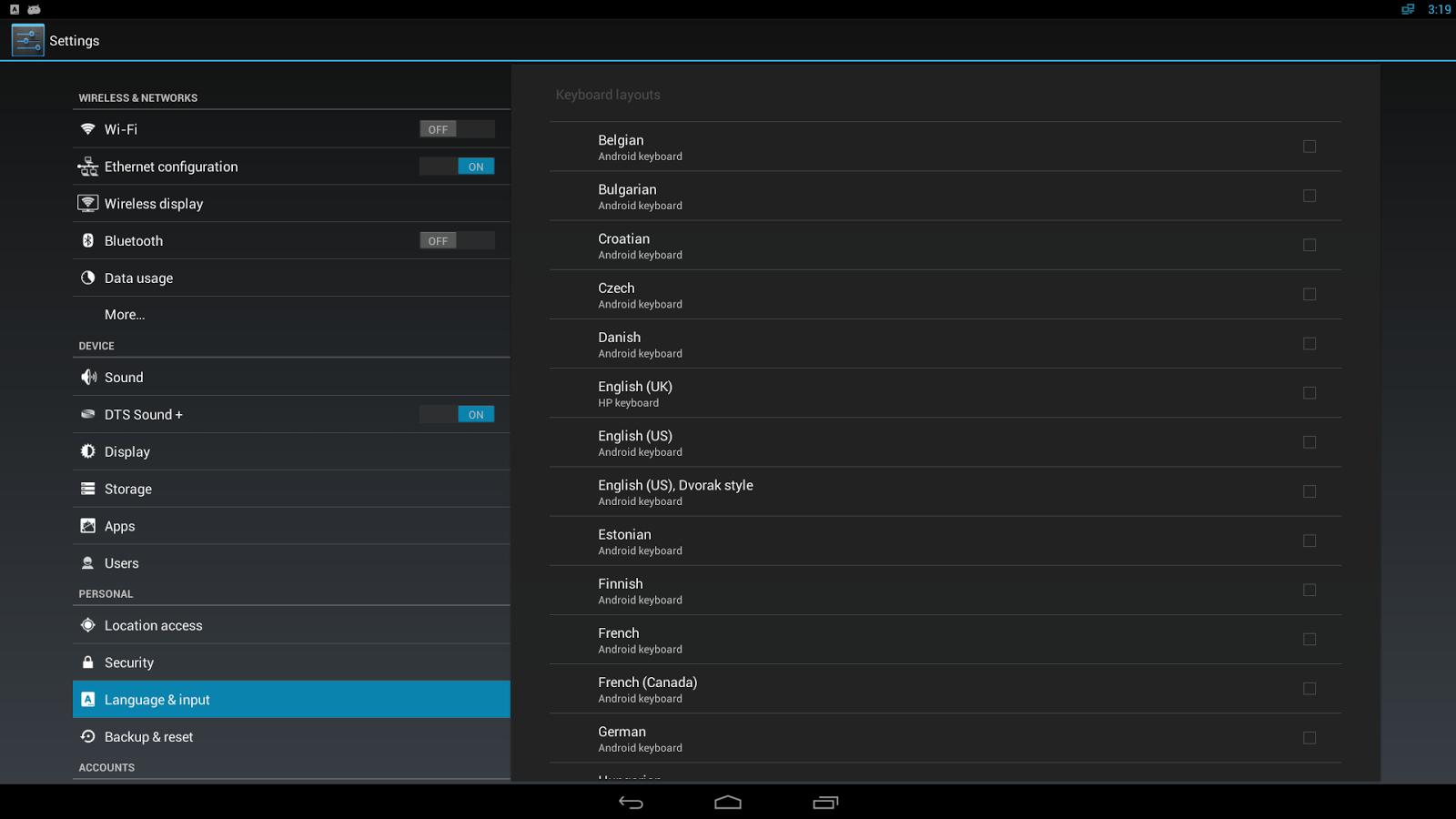 HP Physical Keyboards - screenshot