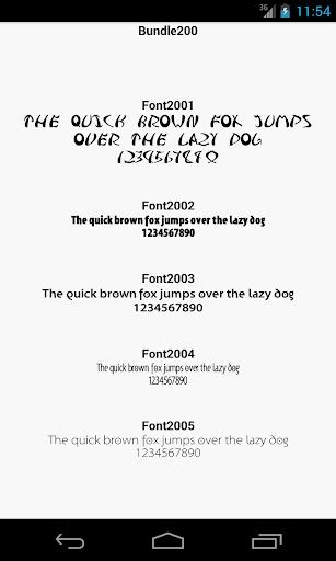 Fonts for FlipFont 200