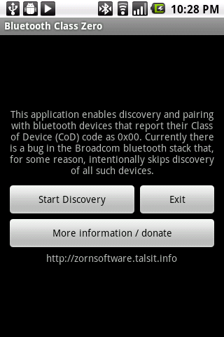 Bluetooth Class Zero - screenshot