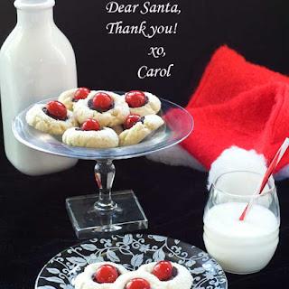Gluten Free Santa's Thumbprint Cookies