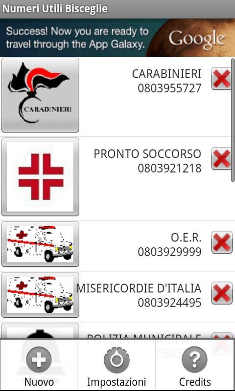 Bisceglie's usefull phone Num.- screenshot